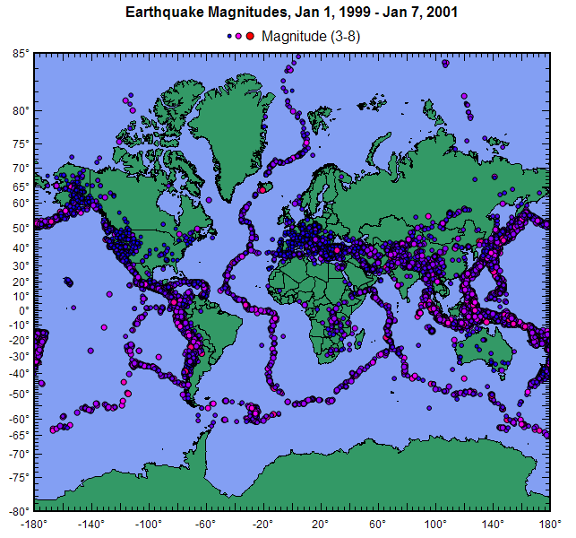 Dplot geographic maps bubble plot recent earthquakes gumiabroncs